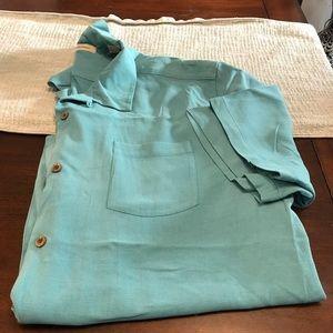 Tommy Bahama 100% Silk men's Shirt XXL.         L